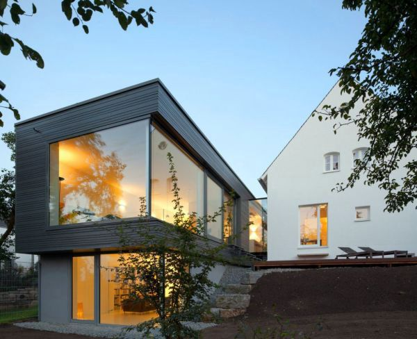 Image: Modern Extension Of A Traditional House