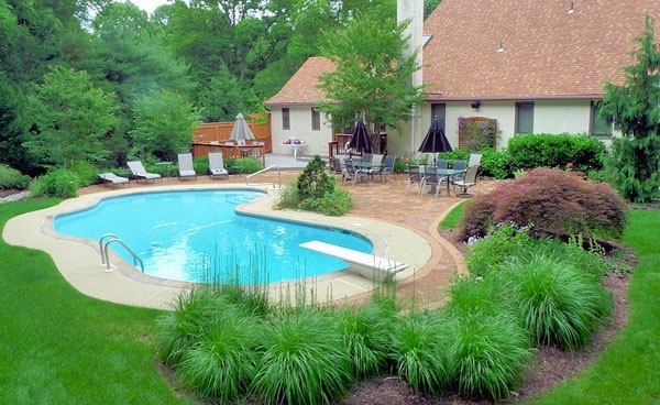 landscaping ideas for around pools swimming pool in the garden