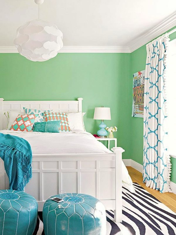 Interior Bright Colors For Bedrooms bright wall colors how to apply them effectively interior green display relaxing in the bedroom wandgestaltung effectively