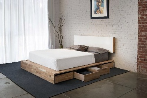 Everything cleared: 10 interesting beds with storage .