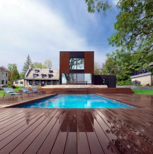 Historic home with modern upgrades in quebec interior for Modern house quebec