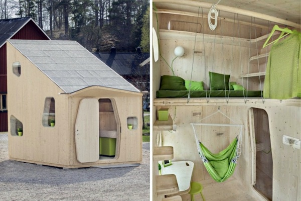 Small wooden house for students on 10 square meters interior design ideas avso org - Thesquare meter tiny house ...