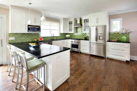 Green Kitchen Walls colors for kitchen walls – 15 great backs in green shades