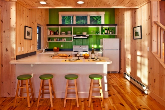 Colors for kitchen walls 15 great backs in green shades for Great kitchen wall colors