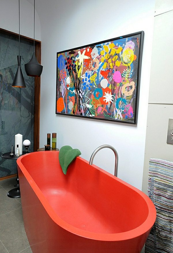 Colored bathtubs ideas for modern bathroom interior design ideas avso org for Baignoire de couleur