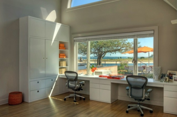 home office design for two persons share you get your work space while keeping your