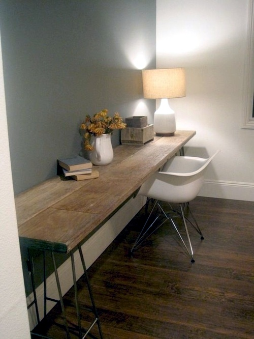 Build desk itself  22 exceptional DIY Office Tables  Interior