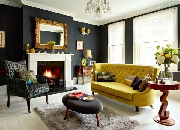 Living Room Colors 22 Decorating Ideas With Black