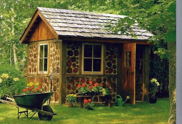 Garden houses made of wood nice and compact garden shed in the