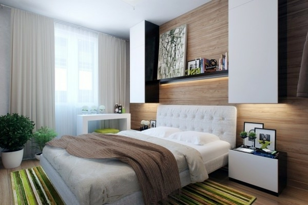 Superieur View Beige   Wood Wall Small Bedroom Modern Design   Designer Solutions