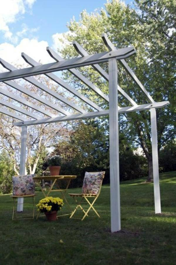 How to build a pergola yourself instructions and photos for Basic deck building instructions