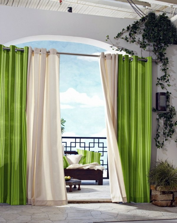 Green Curtains cream green curtains : 50 modern curtains ideas – practical design window | Interior ...