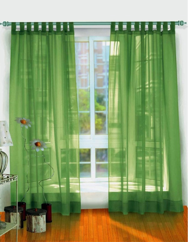 Transparent green curtains 50 modern curtains ideas - practical design  window