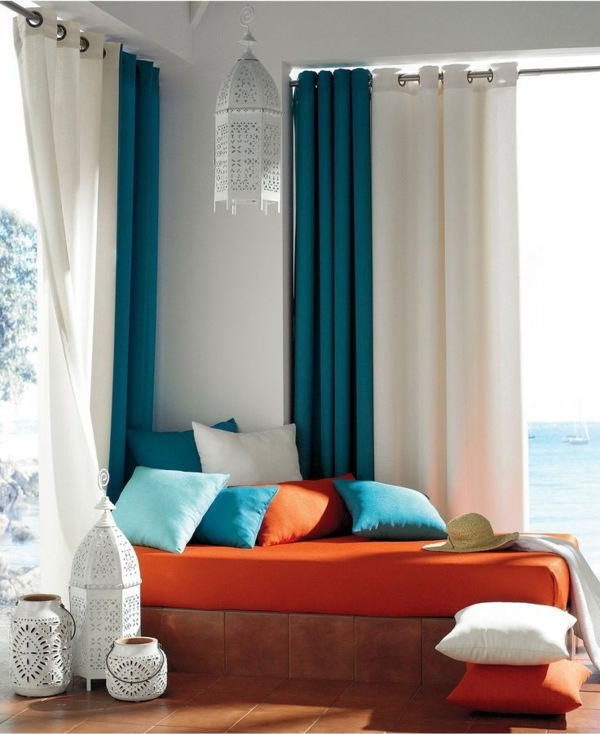 Charming Turquoise And White Curtains 50 Modern Curtains Ideas   Practical Design  Window