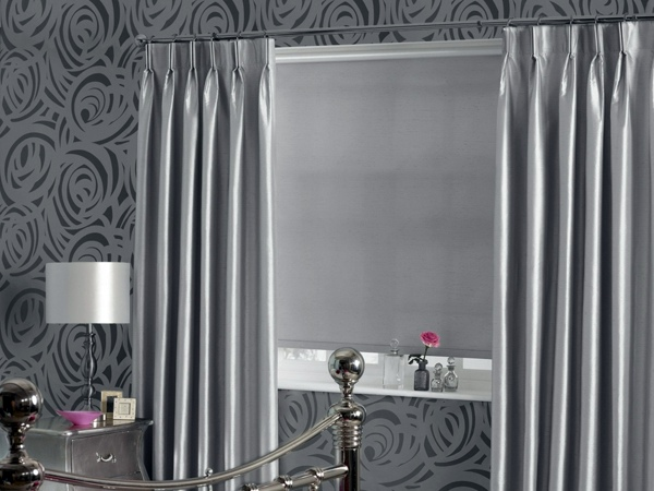 Shiny Silver 50 Modern Curtains Ideas