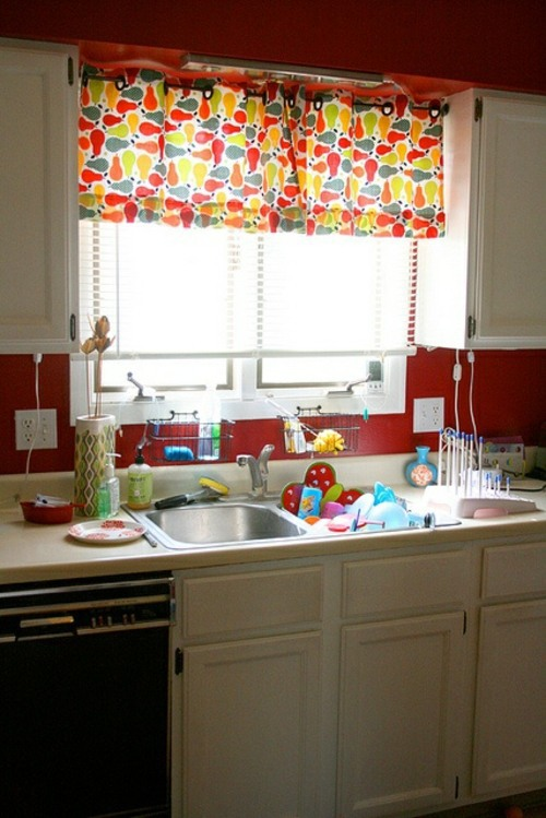 Colorful Kitchen Curtains