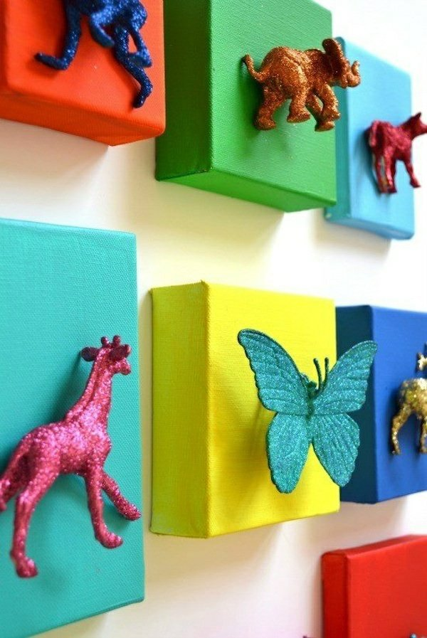 Of decoration itself - DIY projects from reusable materials