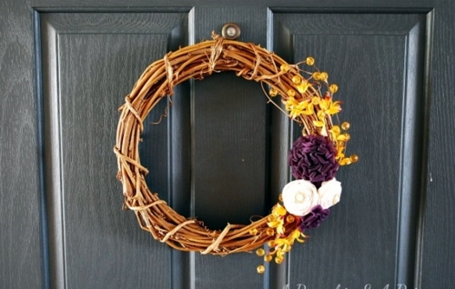 Halloween Deko - 35 Decorating ideas for a homemade autumn door wreath