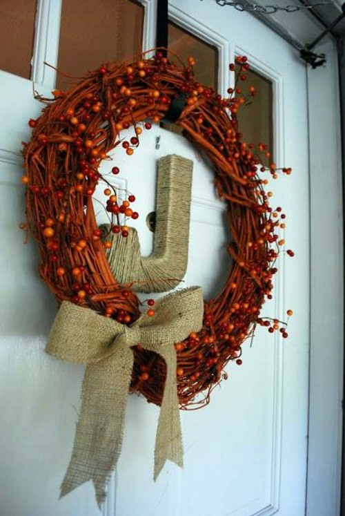 Dark Brown Tones 35 Decorating Ideas For A Homemade Autumn Door Wreath