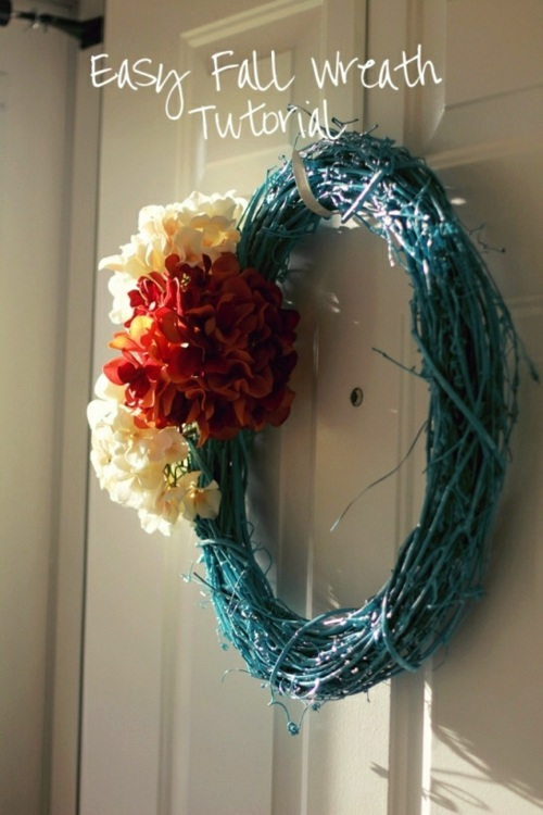 35 Decorating ideas for a homemade autumn door wreath
