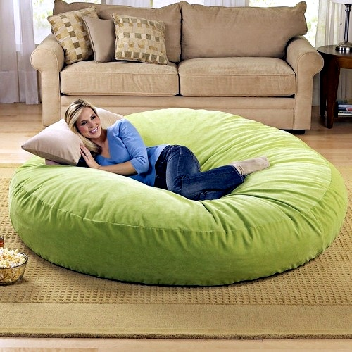 Large Round Beanbag Ergonomic Design Of Brookstone