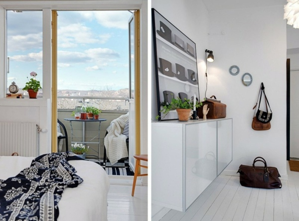 Trendy apartment in stockholm black and white decor and for Trendy apartment decor