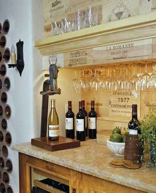 useful ideas for the drinks bar at home - Home Wine Bar Design Ideas