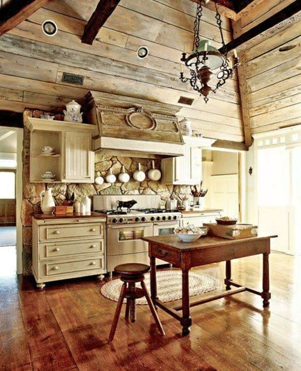 Modern Kitchen Appliances In The Rustic Kitchen