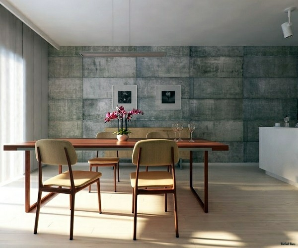 Contemporary   Wall Color With Concrete Look   Walls Made Of Concrete