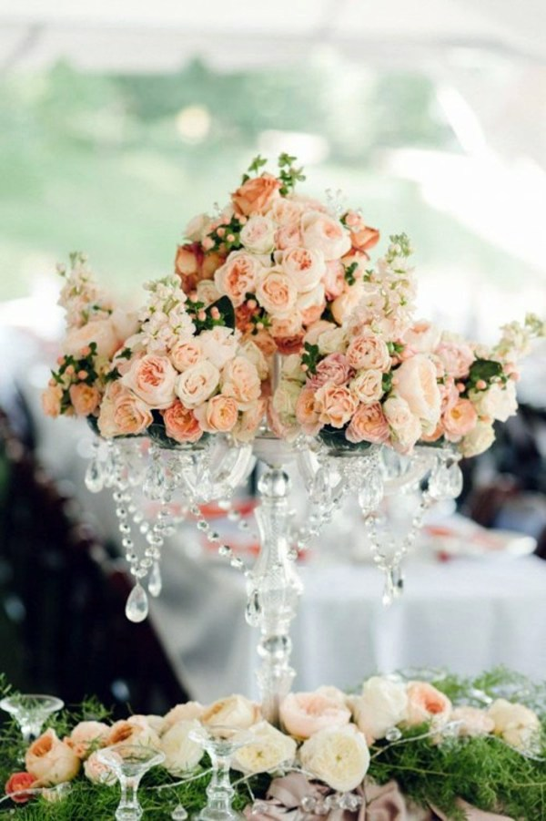 My wedding decor in creamy and peach colors interior design hochzeitsdeko my wedding decor in creamy and peach colors junglespirit Gallery