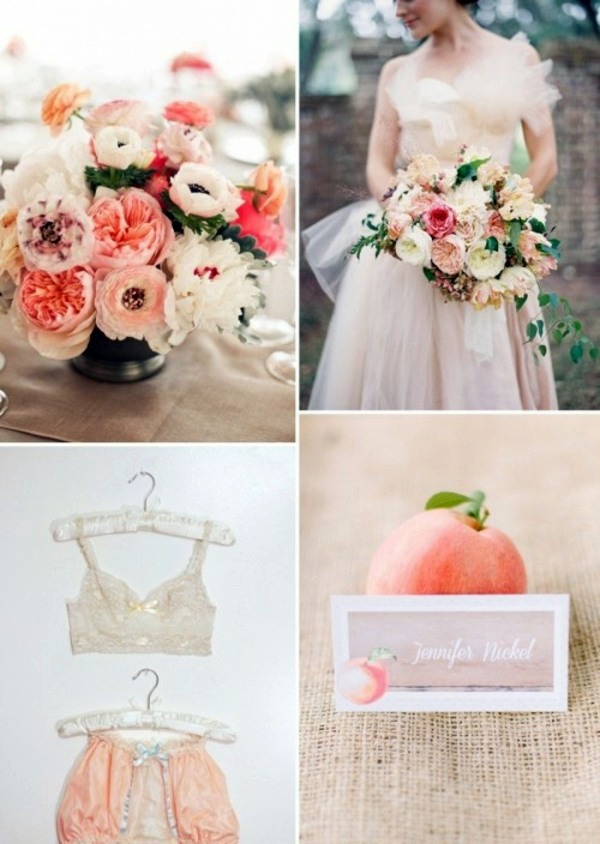 Even Underwear Is Chosen Theme My Wedding Decor In Creamy And Peach Colors