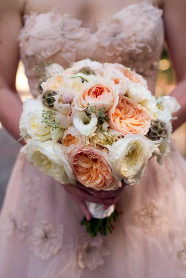 Opulent Wedding Bouquet My Wedding Decor In Creamy And Peach Colors