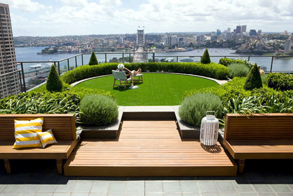 A Garden On The Roof Terrace Interior Design Ideas