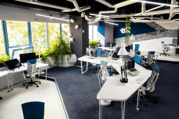 Attractive office set up like a space ship interior for Office room setup