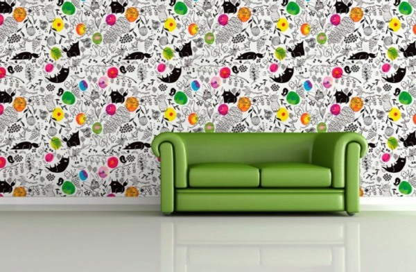 Fancy wallpaper for your chic wall decoration interior for Wallpaper design for office wall