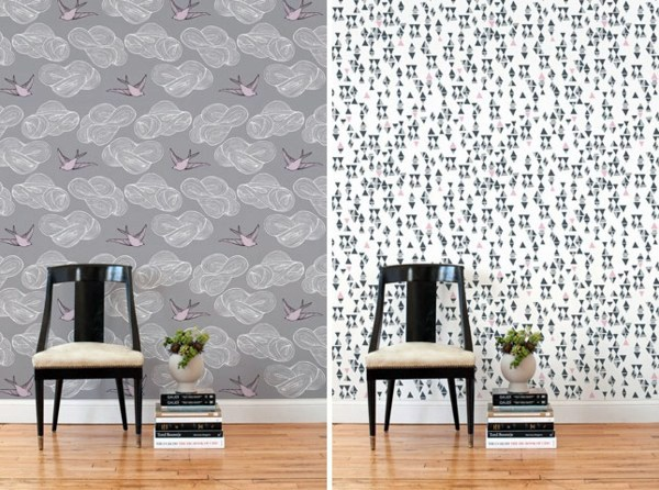Fancy wallpaper for your chic wall decoration interior for Unusual wallpaper ideas