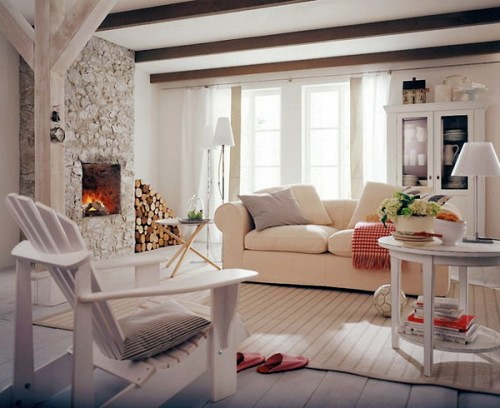 table classic elements cozy bright living room in a rustic style