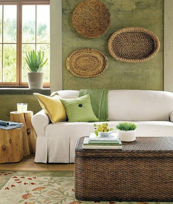 Green wall color can be reached by a trendy decor for Trendy home accessories