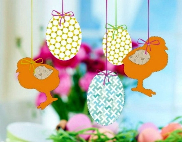 12 decoration ideas for easter that you can make yourself interior hanging animal figures paper easter 12 decoration ideas for easter that you can make yourself solutioingenieria Image collections