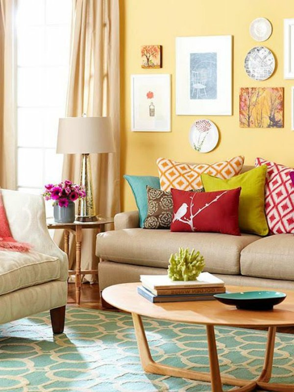 Living Room Colorful Wall Color To Choose For Your Own Personal Project