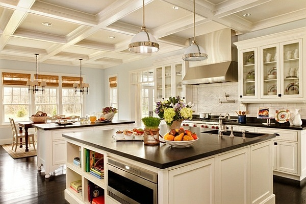 Modern Traditional Kitchens 50 ideas for kitchen equipment and kitchen furniture with a modern