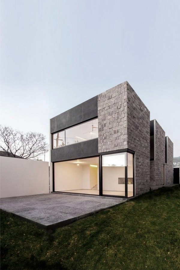 Modern facade cladding for an impressive house character for Minimalist house materials