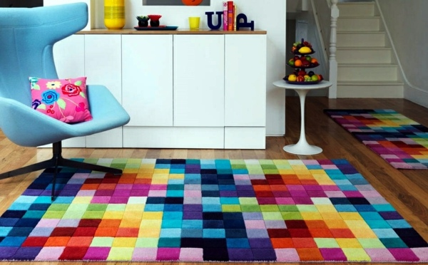 Interior Design Area Rugs And Furniture ~ Colorful rugs in interior design designer furniture
