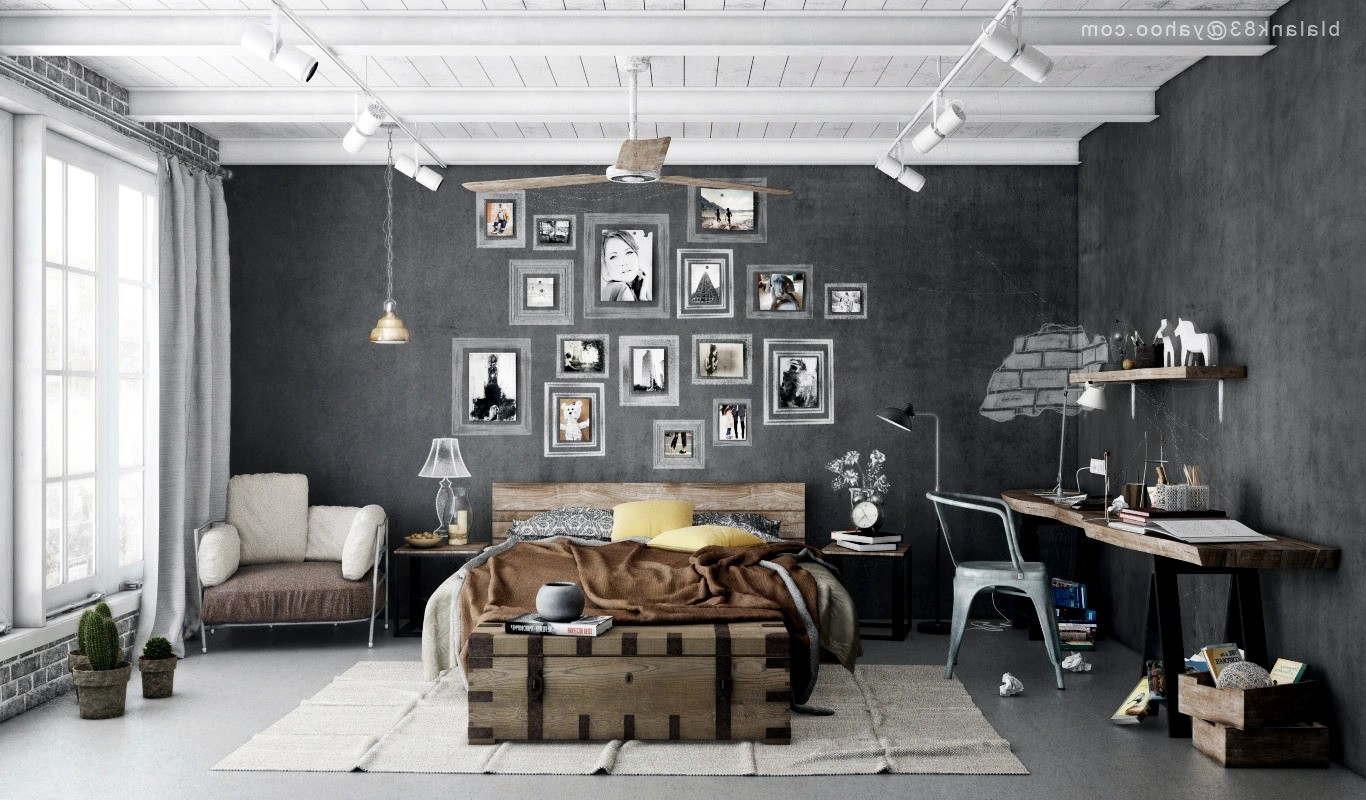 Industrial Bedroom Industrial Bedrooms With Divine Detail  Interior Design Ideas