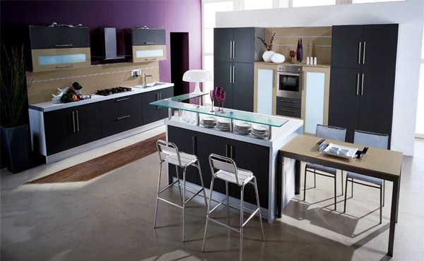 Purple Kitchens | Interior Design Ideas | AVSO.ORG