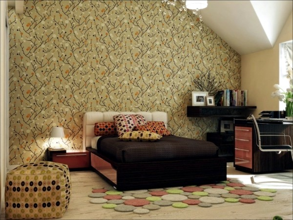 Wall design with wallpaper Interior Design Ideas AVSOORG