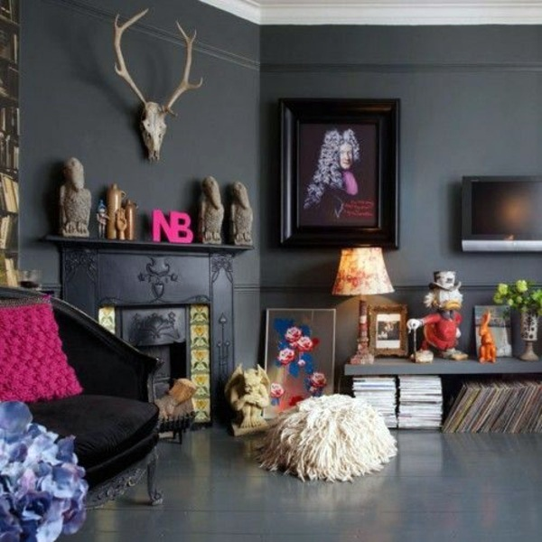 ... Living Room Wall Color Grays   Stay In Tune With The Fashion