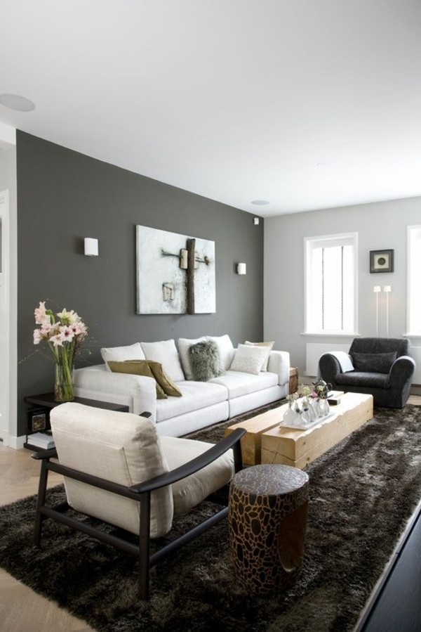 wall color grays stay in tune with the fashion interior design