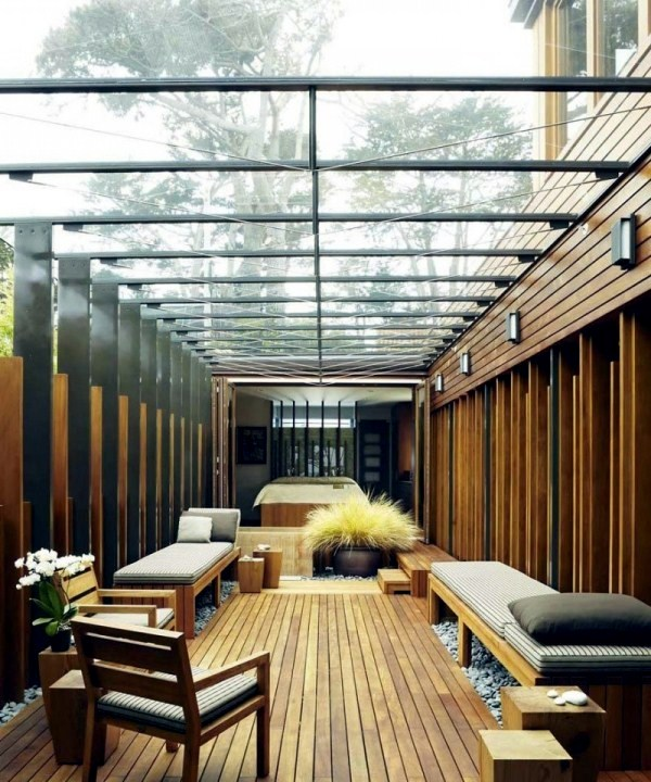 Contemporary Wooden House Japanese Elements And Courtyard With A Glass Roof  7 254   Al Lazord