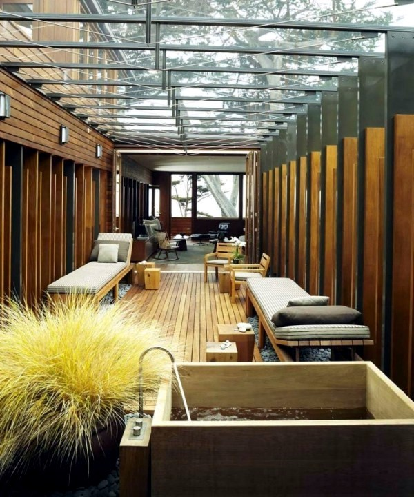 Contemporary Wooden House Japanese Elements And Courtyard